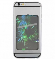 Adhesive Mobile slot card Abstract neon Leopard