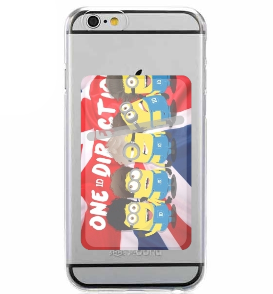 Adhesive Mobile slot card Minions mashup One Direction 1D