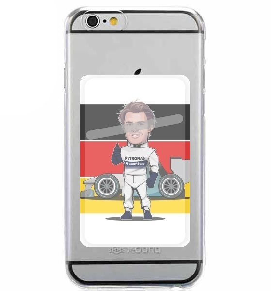 Adhesive Mobile slot card MiniRacers: Nico Rosberg - Mercedes Formula One Team