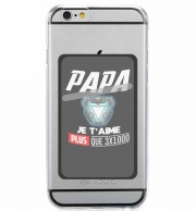 Adhesive Mobile slot card Papa je taime plus que 3x1000