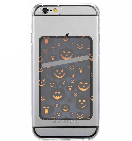 Adhesive Mobile slot card Scary Halloween Pumpkin