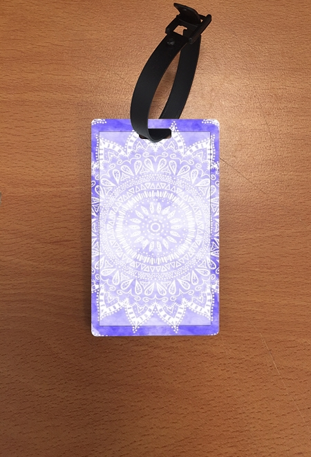 Attachment address for suitcase Bohemian Flower Mandala in purple