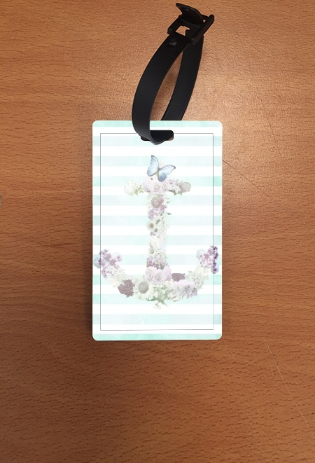 Attachment address for suitcase Floral Anchor in mint