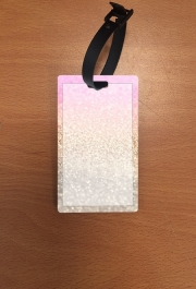 Attache adresse pour bagage Gatsby Glitter Pink