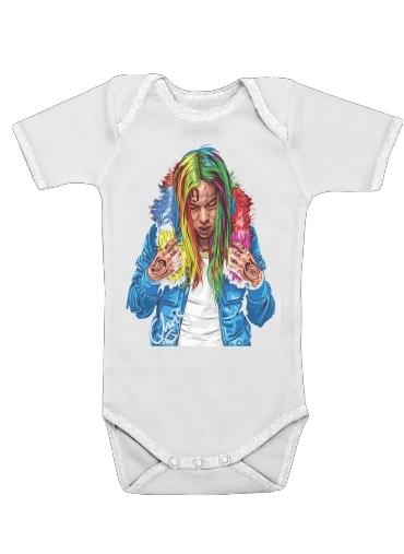 6ix9ine dla Baby short sleeve onesies