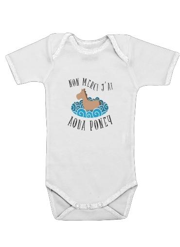 Onesies Baby Aqua Poney