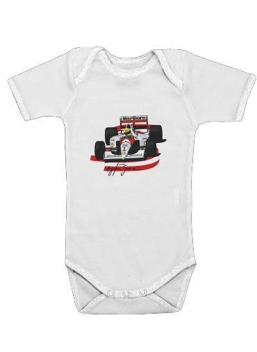 Ayrton Senna Formule 1 King dla Baby short sleeve onesies