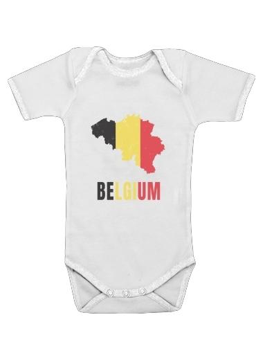 Belgium Flag dla Baby short sleeve onesies
