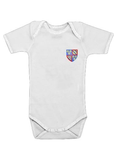 Blason bourgogne dla Baby short sleeve onesies