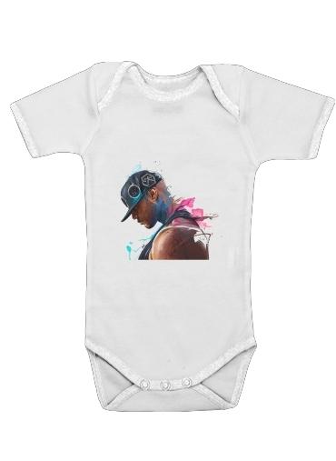Booba Fan Art Rap för Baby short sleeve onesies