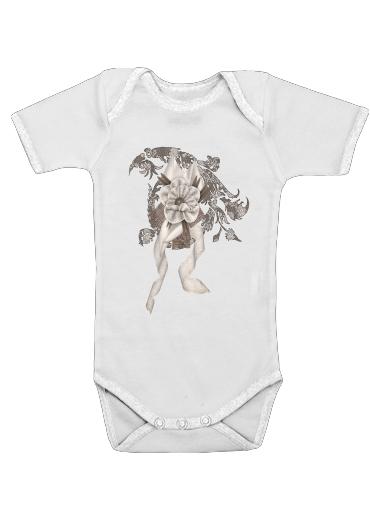 Brown Elegance dla Baby short sleeve onesies
