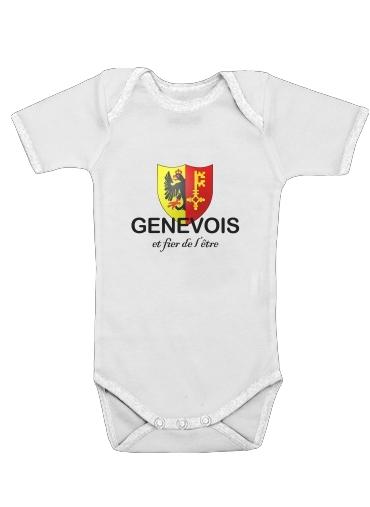Canton de Geneve dla Baby short sleeve onesies