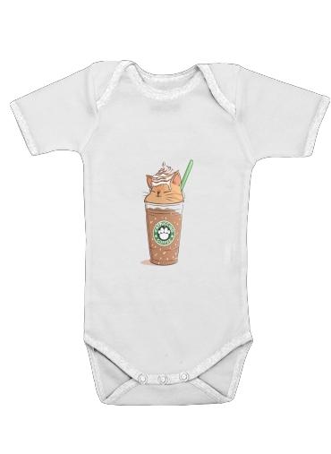 Catpuccino Caramel för Baby short sleeve onesies
