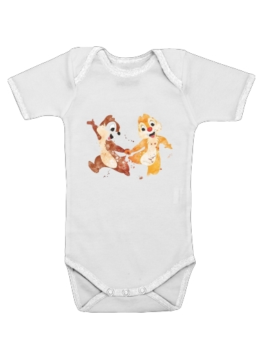 Onesies Baby Chip And Dale Watercolor