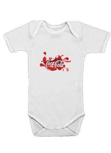 Coca Cola Rouge Classic för Baby short sleeve onesies