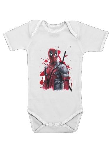 Onesies Baby Deadpool Painting