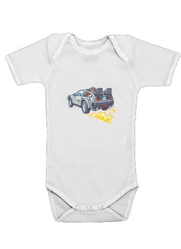 Delorean retour vers le futur dla Baby short sleeve onesies