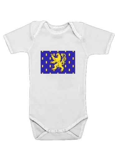 Drapeau de la FrancheComte dla Baby short sleeve onesies