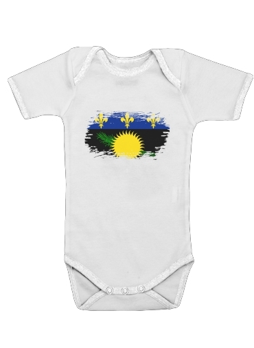 Drapeau de la guadeloupe dla Baby short sleeve onesies