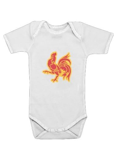 Drapeau de la Wallonie dla Baby short sleeve onesies