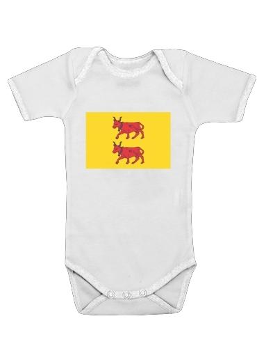 Drapeau Province du Bearn dla Baby short sleeve onesies