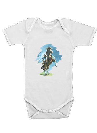 Epona Horse with Link för Baby short sleeve onesies
