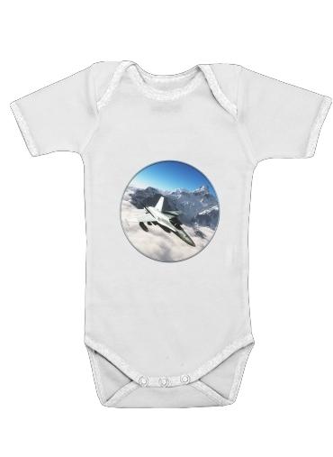F-18 Hornet dla Baby short sleeve onesies