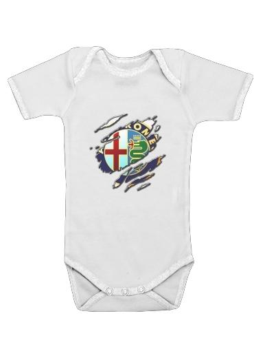 Fan Driver Alpha Romeo Griffe Art dla Baby short sleeve onesies