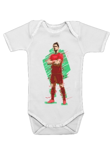 Baby Onesie Football Legends: Cristiano Ronaldo - Portugal