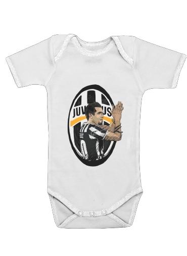 1fbf926a99c Baby Onesie Football Stars  Carlos Tevez - Juventus white - Kids