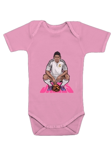 fcbce06f7 Baby Onesie Football Stars: James Rodriguez - Real Madrid pink - Kids