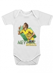 Body Bébé manche courte Football Stars: Neymar Jr - Brasil