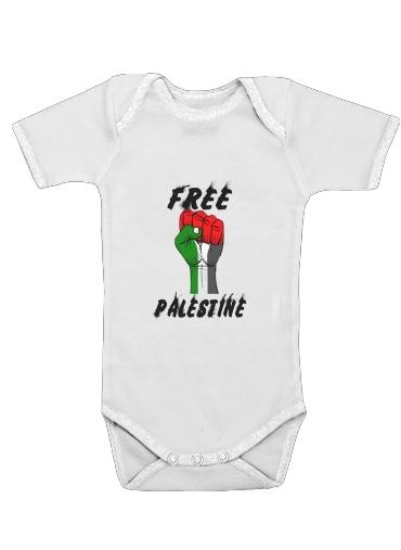 Free Palestine dla Baby short sleeve onesies