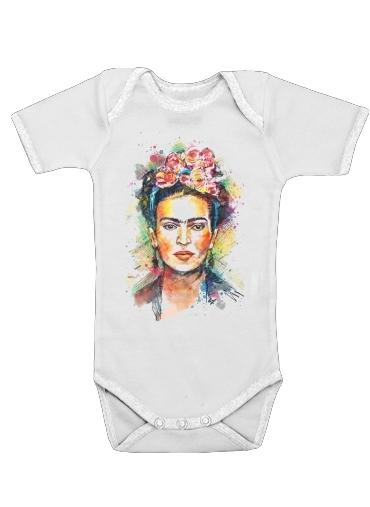 Frida Kahlo för Baby short sleeve onesies