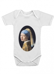 Body Bébé manche courte Girl with a Pearl Earring