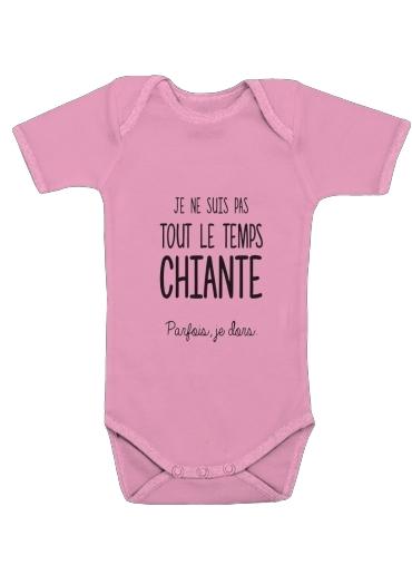 Je ne suis tout le temps chiante PARFOIS Je dors för Baby short sleeve onesies