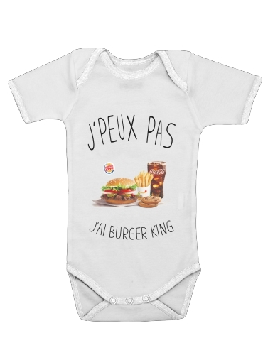 Je peux pas jai Burger King för Baby short sleeve onesies