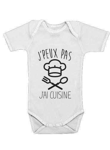 Je peux pas jai cuisine för Baby short sleeve onesies
