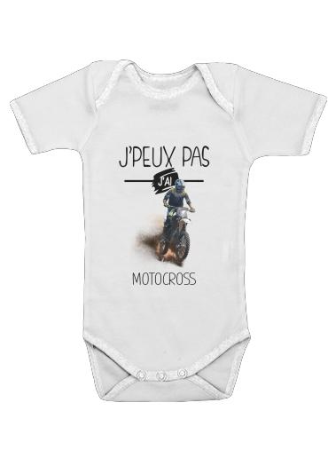 Je peux pas jai motocross dla Baby short sleeve onesies