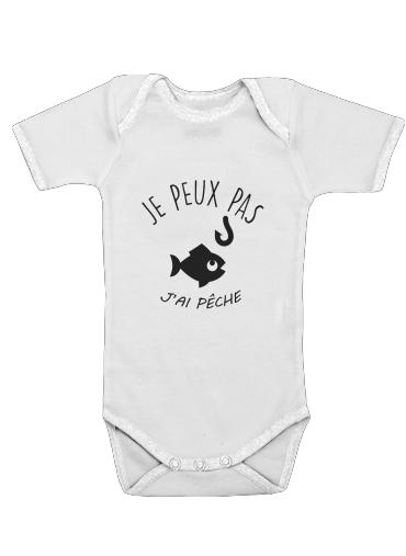Je peux pas jai peche för Baby short sleeve onesies