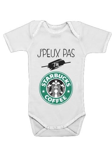 Je peux pas jai starbucks coffee för Baby short sleeve onesies
