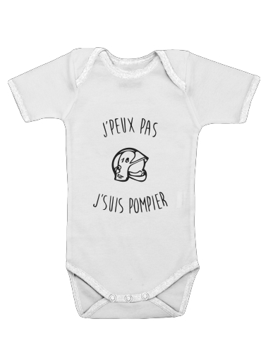 Je peux pas je suis pompier för Baby short sleeve onesies