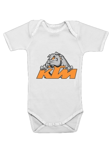 KTM Racing Orange And Black dla Baby short sleeve onesies