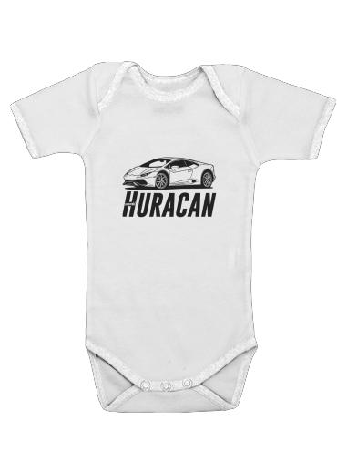 Lamborghini Huracan dla Baby short sleeve onesies