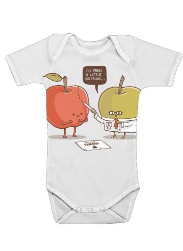 Famous Apple för Baby short sleeve onesies
