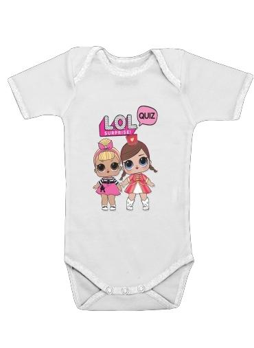 Lol Surprise Dolls Cartoon för Baby short sleeve onesies