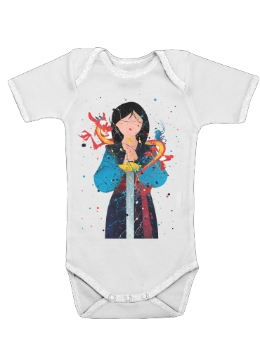 Onesies Baby Mulan Princess Watercolor Decor