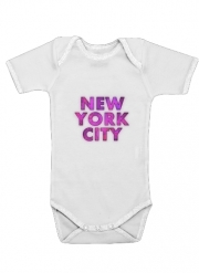 Body Bébé manche courte New York City Broadway - Couleur rose