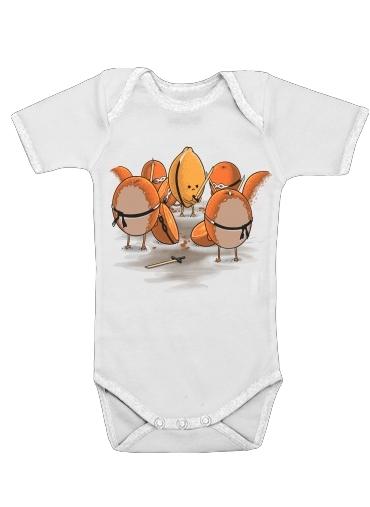 Orange Kill Fruit för Baby short sleeve onesies