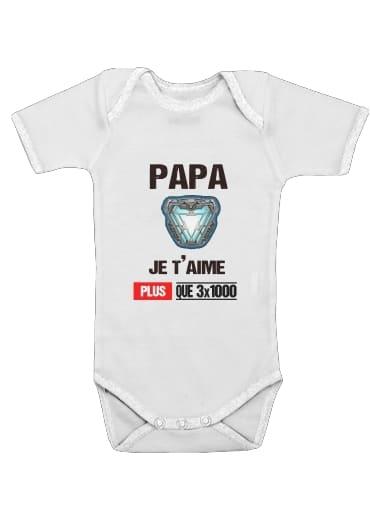 Papa je taime plus que 3x1000 für Baby Body